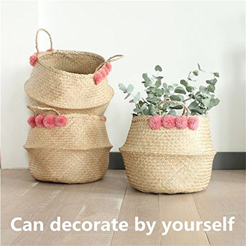 Giant Dahlia Quilt (Straw Basket Folding Flower Pot Home Storage Garden Application For Clothes, Books And Magazines, Cosmetics)