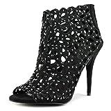 ZIGI SOHO Womens DARLAH Peep Toe Classic Pumps, Black, Size 6.0