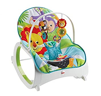 Fisher-Price FMN39 Infant-to-Toddler Rocker Baby Bouncer Chair and Rocker  sc 1 st  Amazon UK & Fisher-Price FMN39 Infant-to-Toddler Rocker Baby Bouncer Chair and ...
