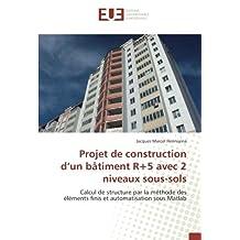 Projet de construction d'un bâtiment R+5 avec 2 niveaux sous-sols: Calcul de structure par la méthode des éléments finis et automatisation sous Matlab