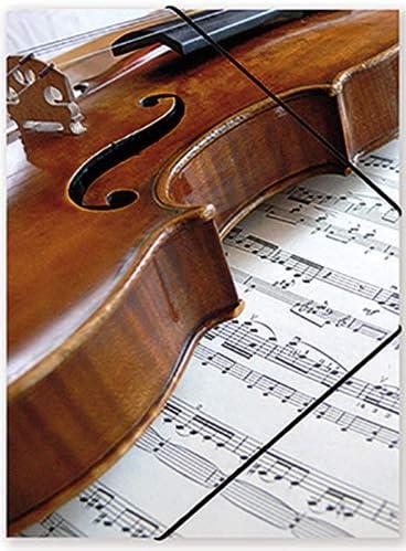 Goma ajustable estuche Violín y partitura: Amazon.es ...