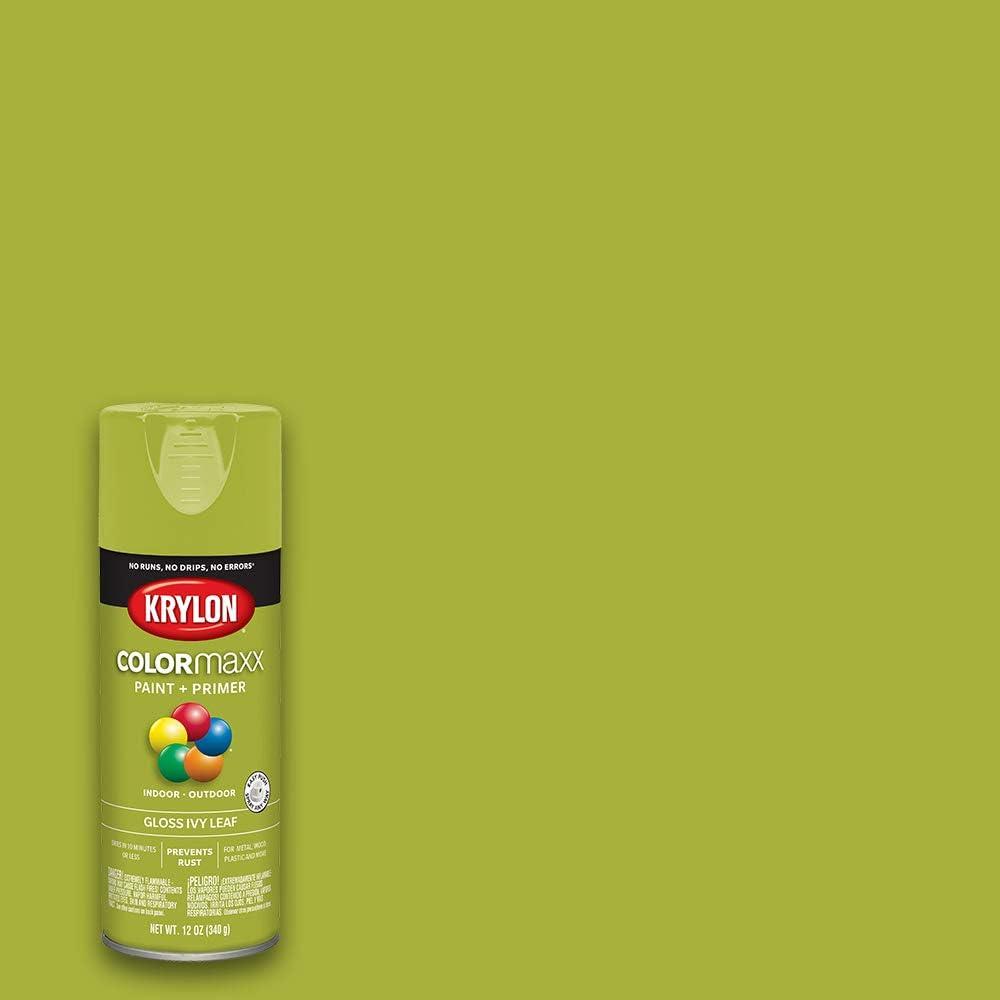 Krylon K05525007 Colormaxx Spray-Paints, Aerosol, Ivy Leaf