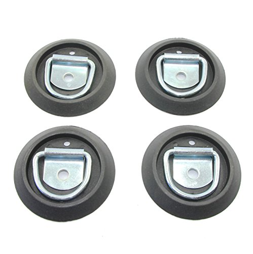 Light Duty Recessed Anchor ((Pack of 4) D Ring Rope Surface Mount with Base)