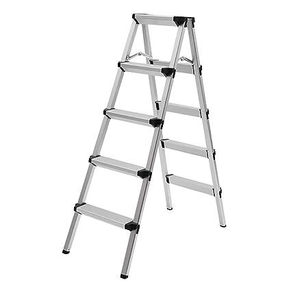 Brilliant Amazon Com Step Stools Folding Step Stool For Adult 5 Step Machost Co Dining Chair Design Ideas Machostcouk