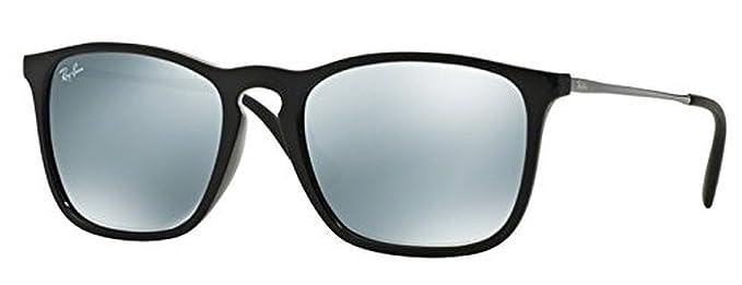 Ray-Ban Chris RB 4187 Sunglasses Black / Green Mirror Silver 54mm \u0026amp; HDO Cleaning