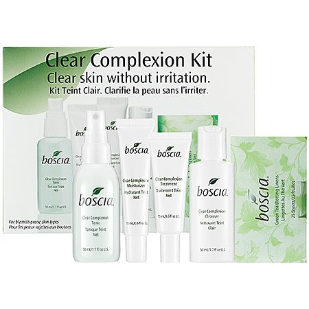 boscia Clear Complexion Kit - This set contains:- 1.7 oz Clear Complexion Tonic, - 0.5 oz Clear Complexion Moisturizer, - 0.5 oz Clear Complexion Treatment, - 1.7 oz Clear Complexion Cleanser, - 25 Sh...