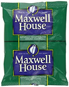 Maxwell House Ground Coffee, Decaffeinated, 1.25-Ounce Packages (Pack of 42)