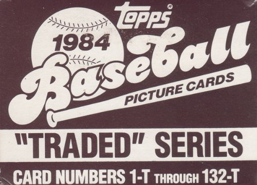 (1984 Topps Traded Baseball Series Complete 132 Card Set in Original Factory Set Box. Contains Pete Rose and Tom Seaver, Plus Rookie Cards of Dwight Gooden and Bret Saberhagen Among Others.)