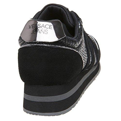 Versace Jeans Snake Runner Femme Baskets Mode Noir Noir ciuCHCEeq