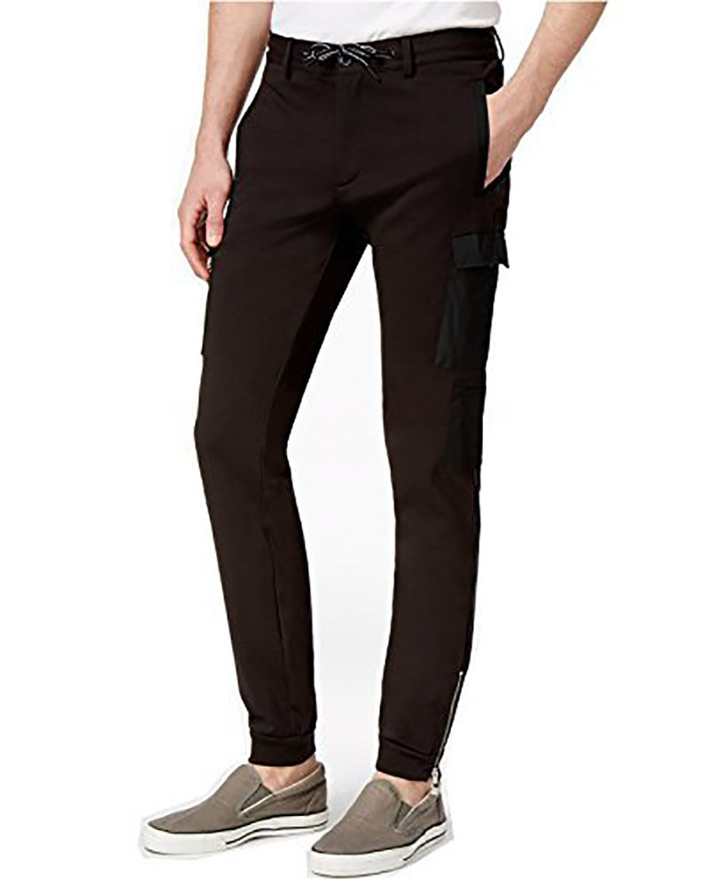 Calvin Klein Men's Slim-Fit Cargo Pants (XXL, Black)