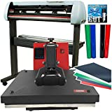 "USCutter Bundle: 28"" SC2 Vinyl Cutter + 15x15 Heat Press Htv Sign Vinyl"