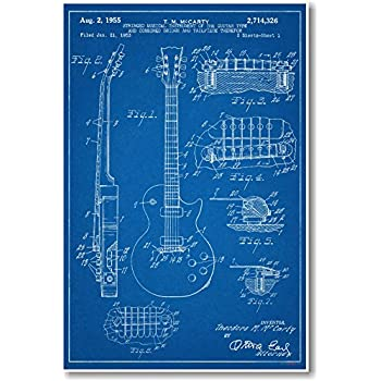 Compare Shipping Rates >> Amazon.com: Gibson Les Paul Guitar Patent - NEW Famous ...