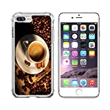 MSD Apple iPhone 6 plus iPhone 6s plus Clear case Soft TPU Rubber Silicone Bumper Snap Cases iPhone 6plus/6s plus IMAGE of coffee drink cup espresso brown bean food morning background caffeine white