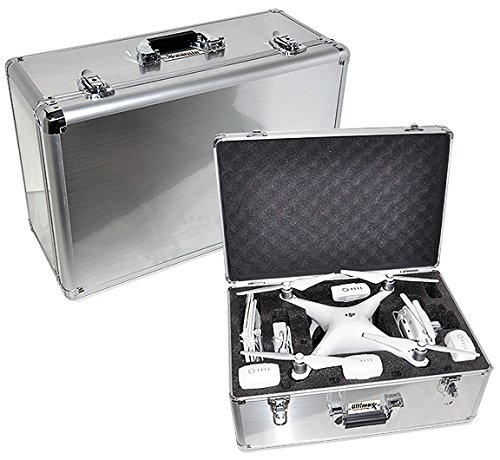 Ultimaxx Aluminum Carrying Case w/Handle for DJI Phantom 4, Phantom 4 Advanced and Phantom 4 Pro Series Quadcopter Drones, Fits Extra Accessories
