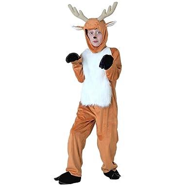 d4f08b0977d1 Amazon.com  CH Q Kids Adult Toga Deer Costumes Halloween Fancy Dress Animal  Cosplay Onesie  Clothing