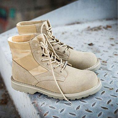 RTRY Zapatos De Mujer Otoño Invierno Pu Confort Cowboy Western / Botas Botas Talón Plano Ronda Toe Botines/Botines Lace-Up Para Casual US5.5 / EU36 / UK3.5 / CN35