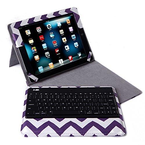ipad 2 keyboard case purple - 2
