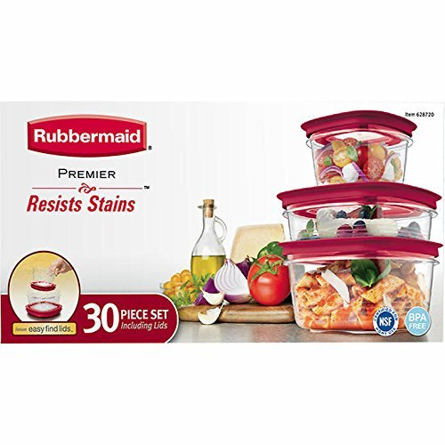 Rubbermaid Premier 30 piece Storage Set - Stain Resistant (Rubbermaid Food Premier Storage)