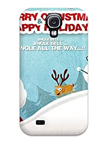 Durable Protector Case Cover With Merry Christmas Happy Holidays Hot Design For Galaxy S4