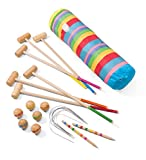 Vilac 6 Players Croquet Set in Golf Bag, Large