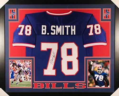 Bruce Smith Signed Buffalo Bills 35x43 Custom Framed Jersey (JSA COA) Bruce Smith Signed Bills