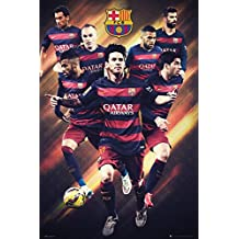 """FC Barcelona - Sports Poster / Print (Soccer / Football) (The Players 2015 / 2016) (Lionel Messi...) (Size: 24"""" x 36"""")"""