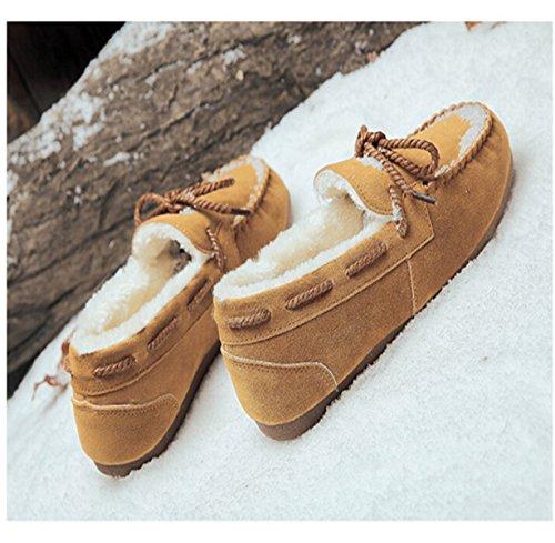 Flat Wild Shoes Pedal Warm Khaki A Cotton dvqrvf