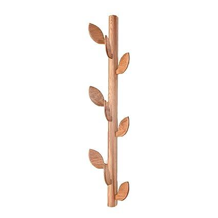 DWW Perchero de Pared de 9 Ganchos Colgantes de bambú ...