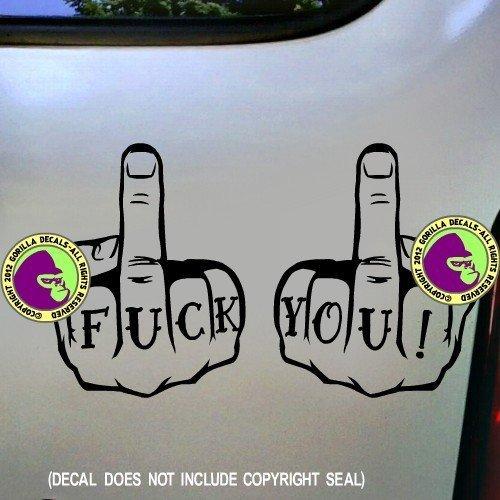 215b84b76 Amazon.com: F*CK YOU Tattoo Knuckles Vinyl Decal Sticker B: Handmade