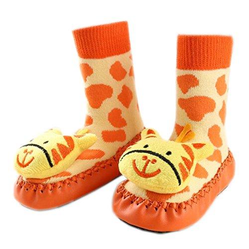 Leap Frog Anti-slip Floor Socks, Baby Mädchen Krabbelschuhe & Puschen Tiger
