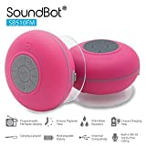 SoundBot SB510FM FM RADIO Water Resistant Bluetooth Wireless 5W Shower Speaker HandsFree Portable Speakerphone w/ Auto-Scan Tuner, 6Hrs Music Streaming, Built-in Mic, Detachable Suction Cup, Lanyard
