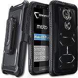 #6: Moto E5 Plus / E5 Supra Case, COVRWARE [ Aegis Series ] Case Built-in [Screen Protector] Heavy Duty Full-Body Rugged Holster Armor Case [Belt Swivel Clip][Kickstand], Black