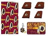 NFL Washington Redskins 18 Piece Bath Ensemble #36202660: Set Includes 1 Shower Curtain, 12 Shower Hooks, 2 Bath Towels, 2 Hand Towels 1 Bath mat … B07FL1TYD3