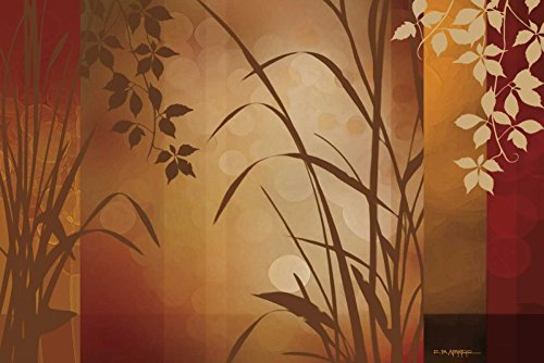 (Edward Aparicio Stretched Canvas Art - Flaxen Silhouette - Medium 12 x 18 inch W)