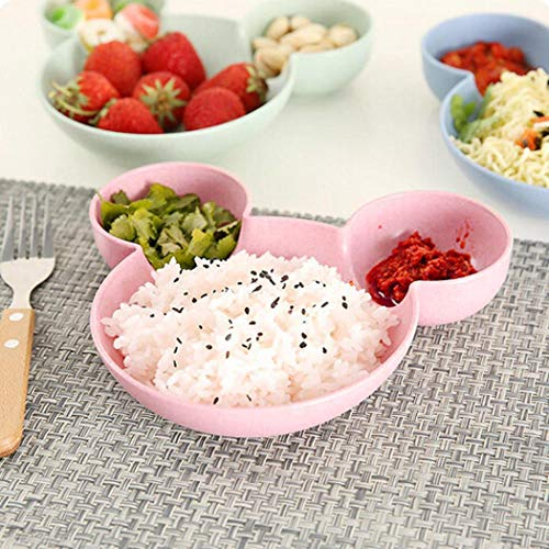 1PC Children Cute Bowl Sub-grid Tableware Fruit Plate Cartoon Baby ()