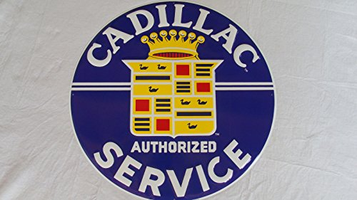 Repair Service Tin Sign (CADILLAC DEALER SIGN Dealership Repair Service SHOP,GARAGE SIGNS,LARGE,Embossed)