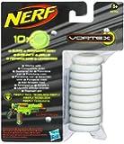 Hasbro 39756148 - Nerf Vortex Glow in the Dark Disc Nachfüllpack