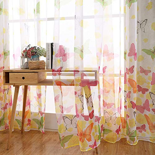 Daxin Butterfly Panel Scarf Window Curtain Screens Balcony Sheer Valances Home