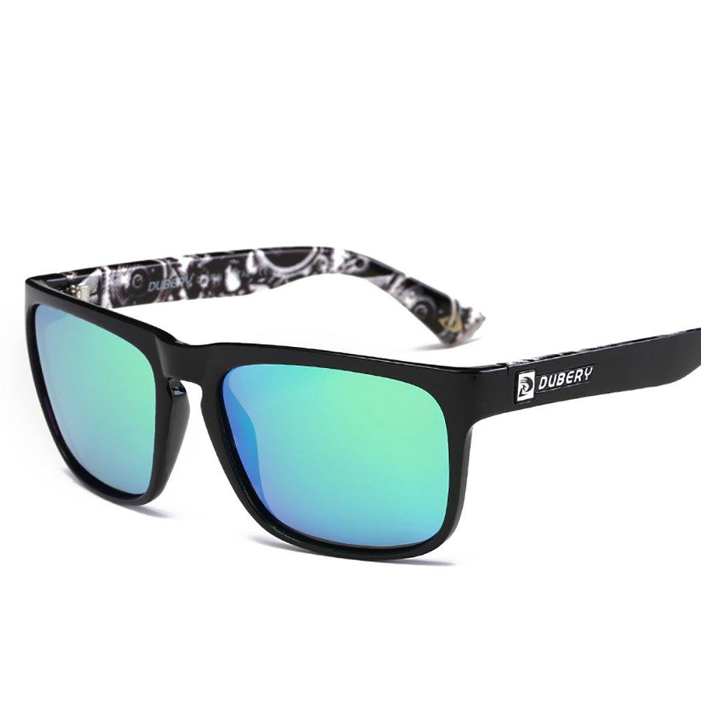 e0dd8f2a76 Amazon.com  DUBERY Mens Polarized Flying Sunglasses Outdoor Driving Sport  Eyewear New ( 1)  Clothing