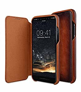 Melkco Elite Series Premium Leather Face Cover Back Slot Case for Apple iPhone X - Tan
