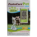 FastaCare Pet Blood Glucose Monitoring System Starter Kit (Meter, Lancing Device, Controls Solution, 10 Test Strips, 10 Lancets, Carrying Case).
