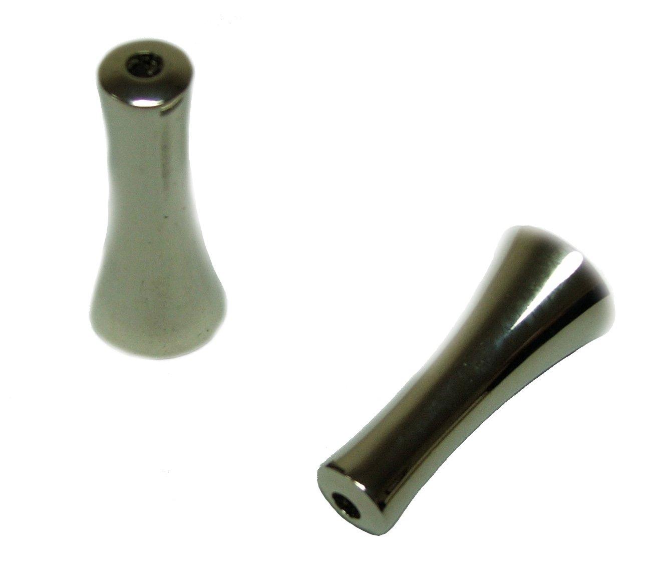 2 x Chrome Blind Acorn - Shower Light Cord Weight Pull