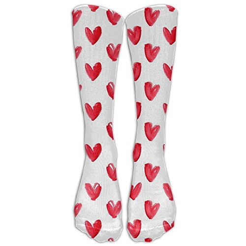 Red Heart Compression Socks Soccer Socks Knee High Socks For Running,Medical,Athletic,Edema,Diabetic,Varicose Veins,Travel,Pregnancy,Shin Splints,Nursing. by Bag-shirt (Image #1)