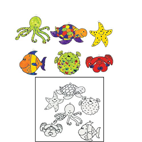 (Under the Sea Suncatchers (24 Pack) Plastic)