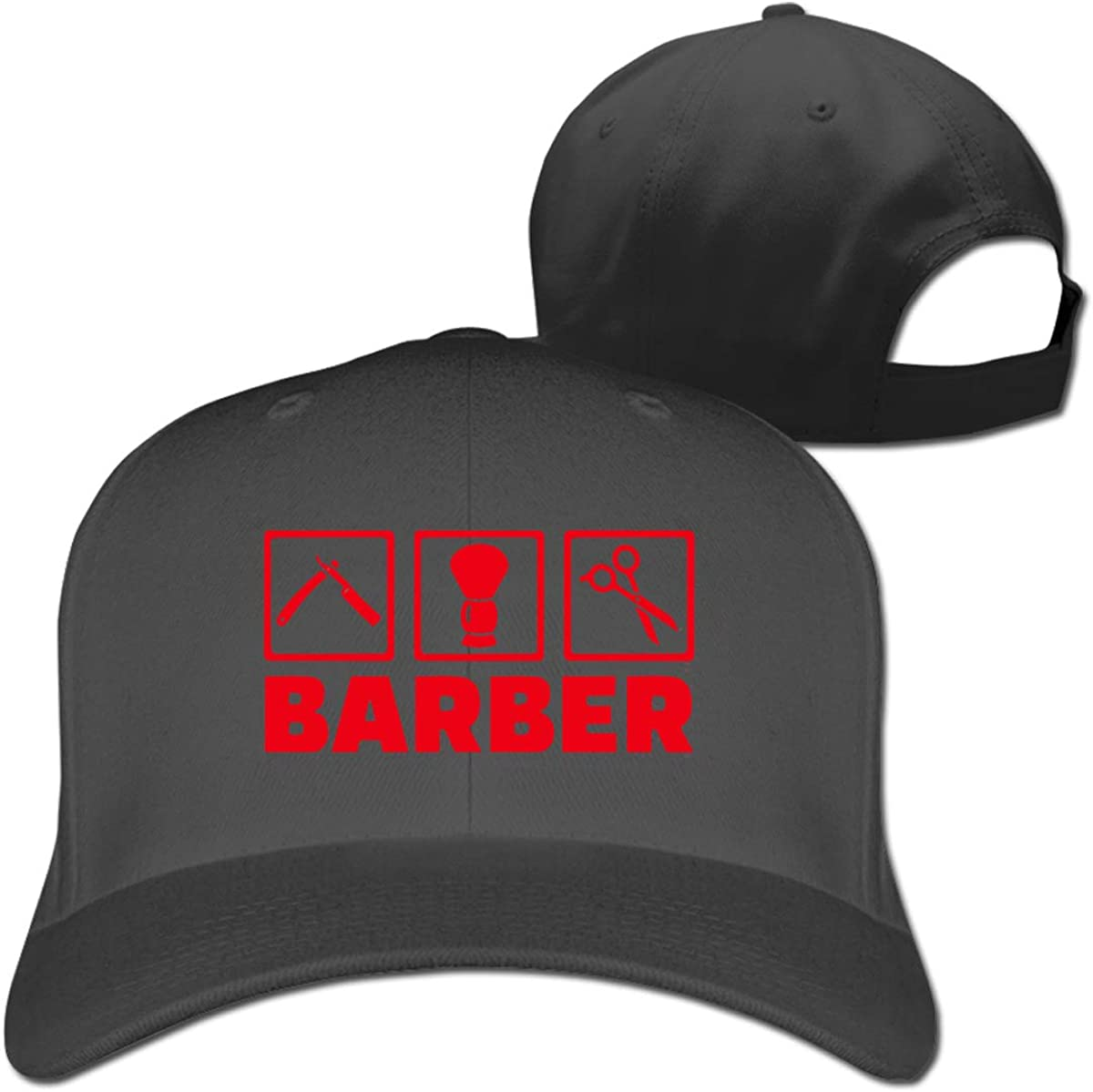 Barber Tool Fashion Adjustable Cotton Baseball Caps Trucker Driver Hat Outdoor Cap Black