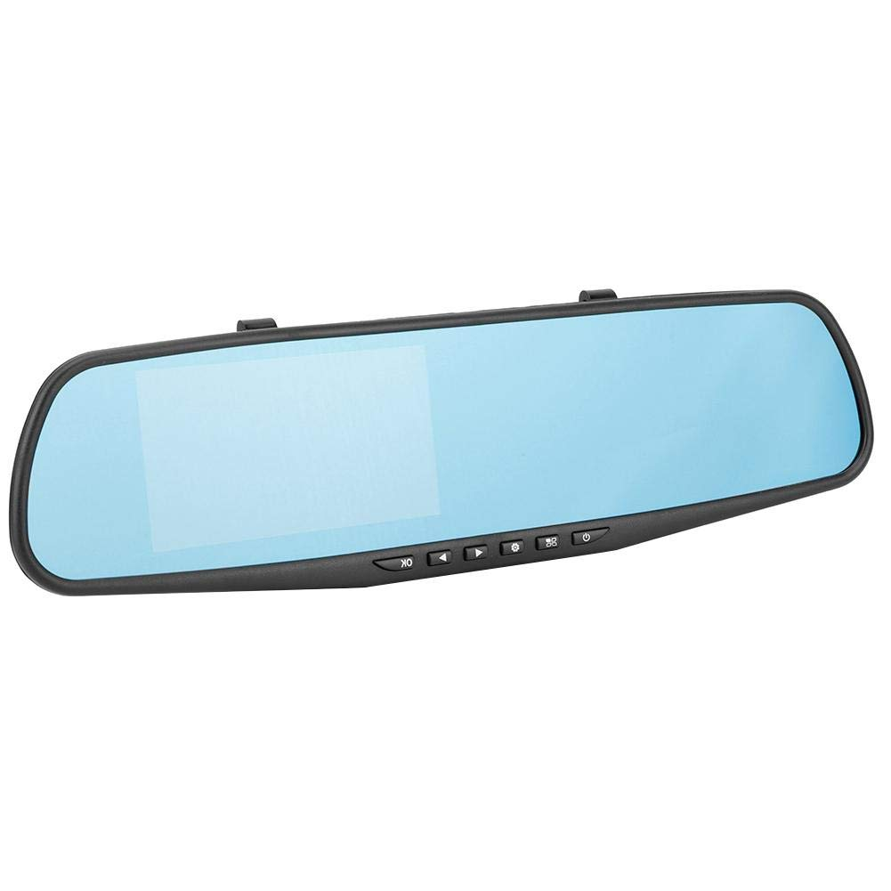 4.3HD G-sensor Parte delantera y trasera del autom/óvil Grabaci/ón doble Espejo retrovisor C/ámara grabadora de conducci/ón Grabadora de conducci/ón