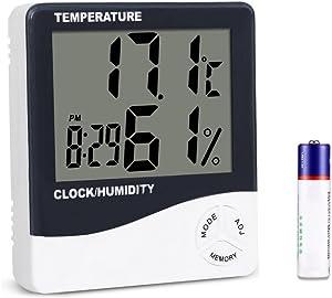 Mengshen Digital Hygrometer Thermometer, Indoor Temperature Gauge Meter for Home/Office/Greenhouse/Basement/Car/Babyroom, TH02
