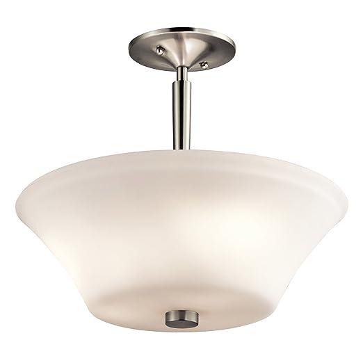 Amazon.com: Semi Flush - Lámpara de techo (3 focos, acabado ...