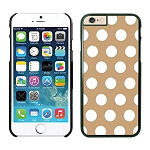 Iphone 6 Cases;cute Iphone 6 Case,polka Dot Brown and White Iphone 6 Plus Cases Black Cover