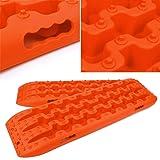 Yeeoy Set of 2 Car Non-Slip Mats Orange Traction